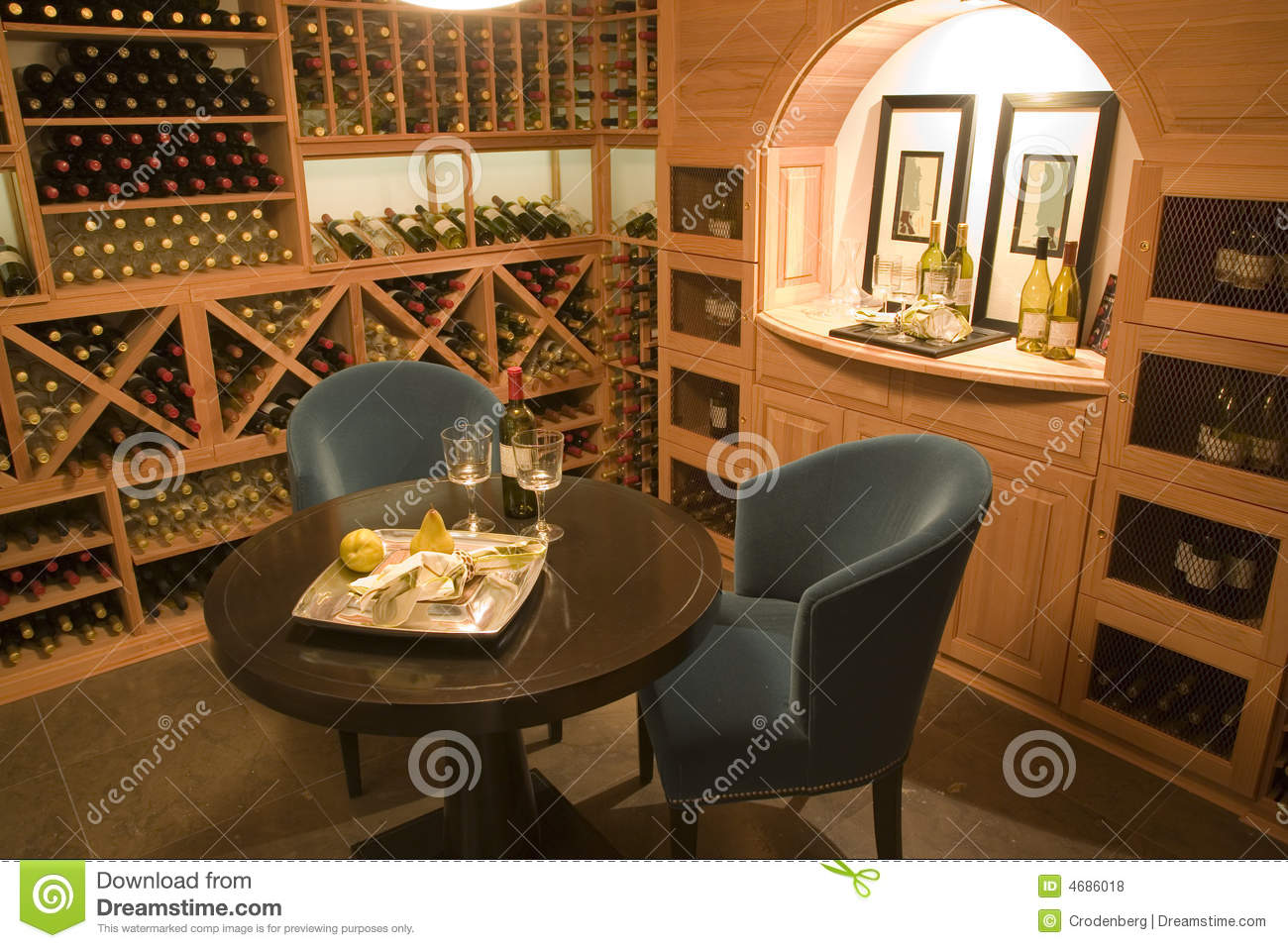 Wine cellar for two.