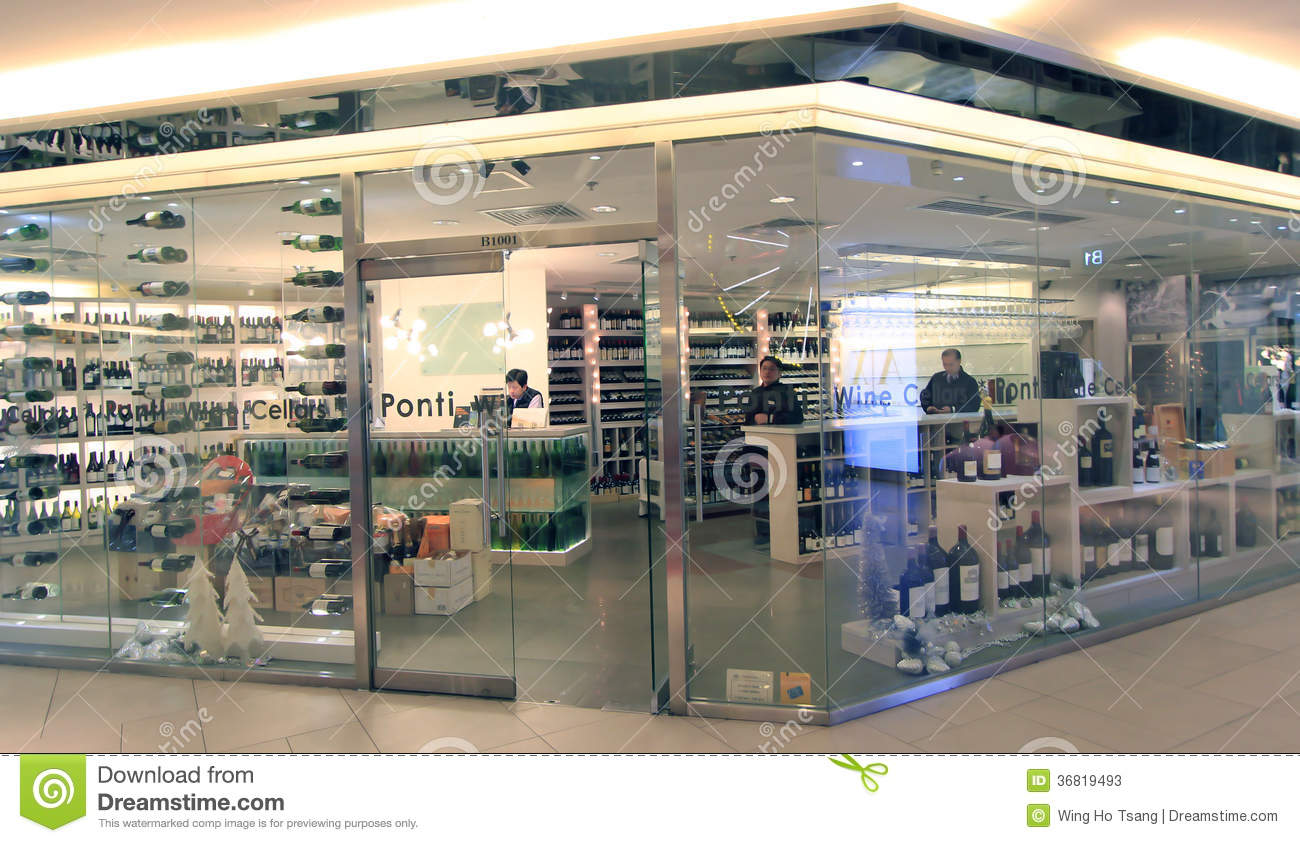 Wine cellars ponti shop in hong kong & Wine Cellars Ponti Shop In Hong Kong Editorial Stock Photo - Image ...
