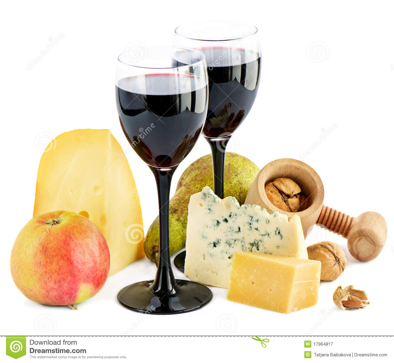 Wine Cheese And Apple Stock Image Image Of Cheese Bunch