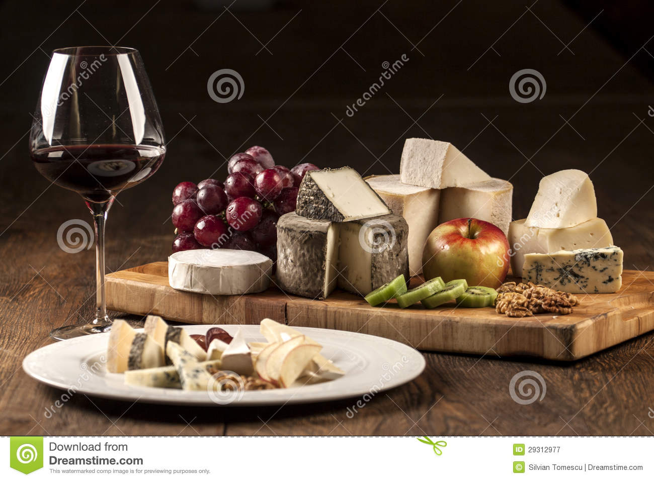Wine And Cheese Plate Specialties Stock Image Image Of Cutting Brie 29312977