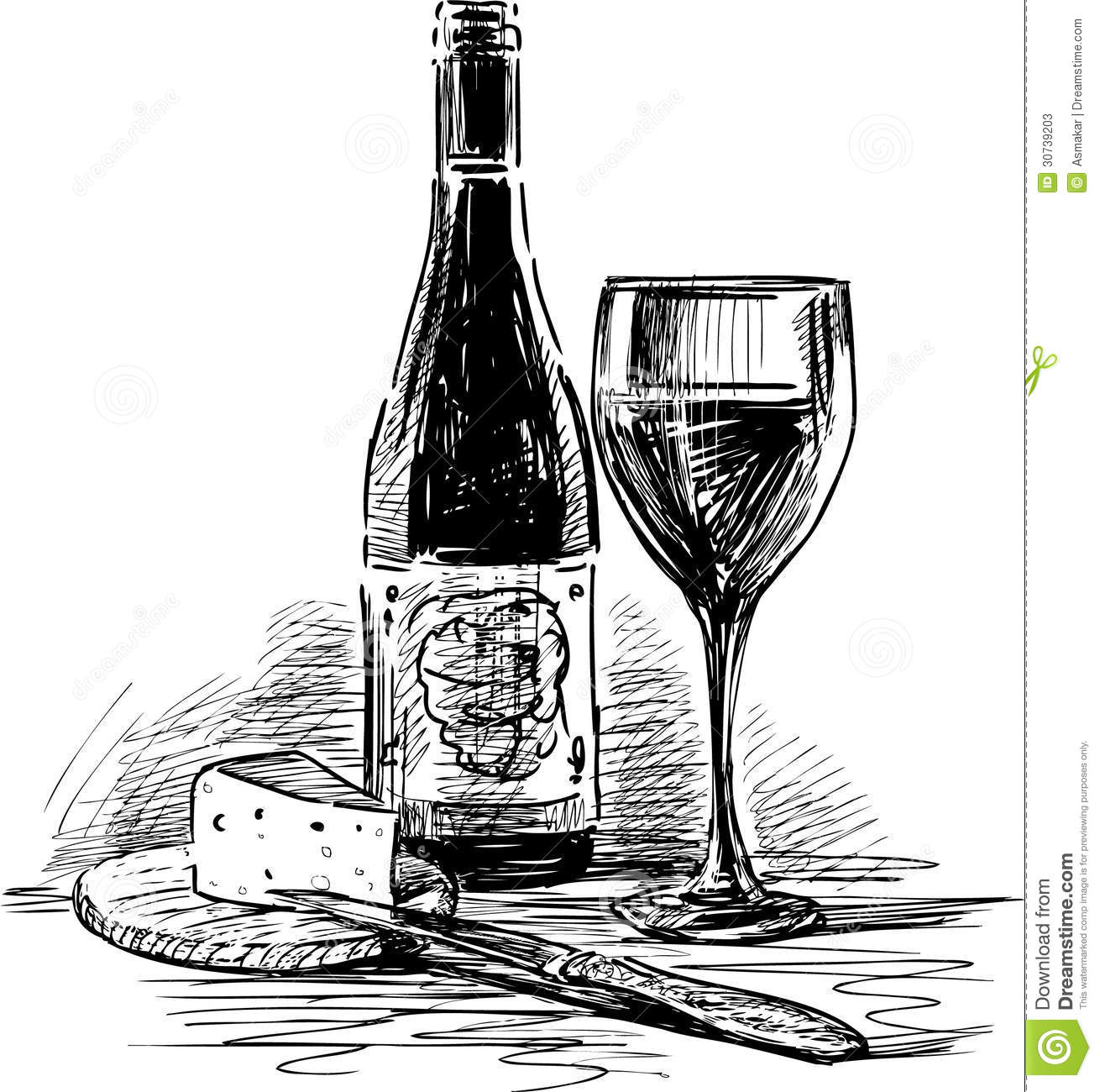 Wine And Cheese 2 Stock Photos Image 30739203