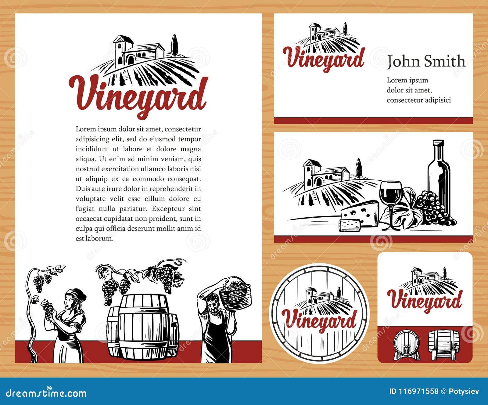 Wine Concept Design Corporate Identity Logotype Business Cards