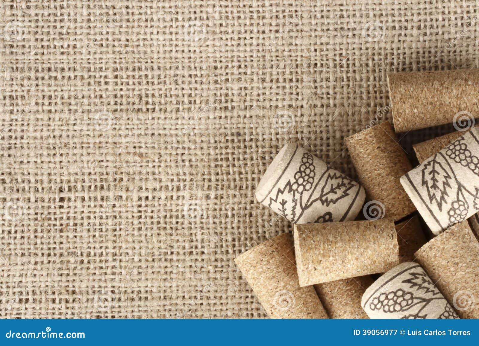 Wine Corks Background Stock Photo - Image: 39056977