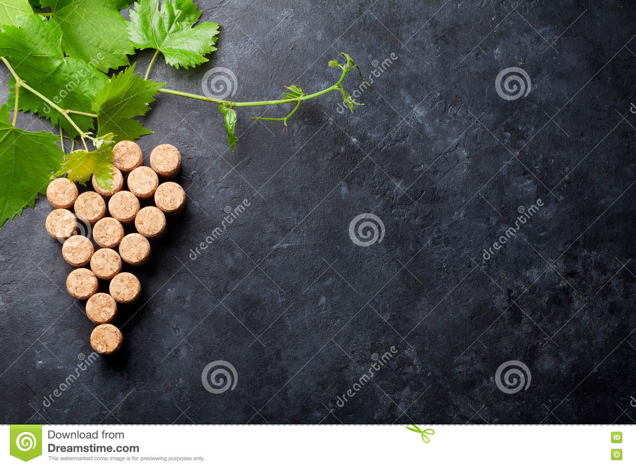 Wine corks grape shape and vine stock photo image 76858184 for Table and vine
