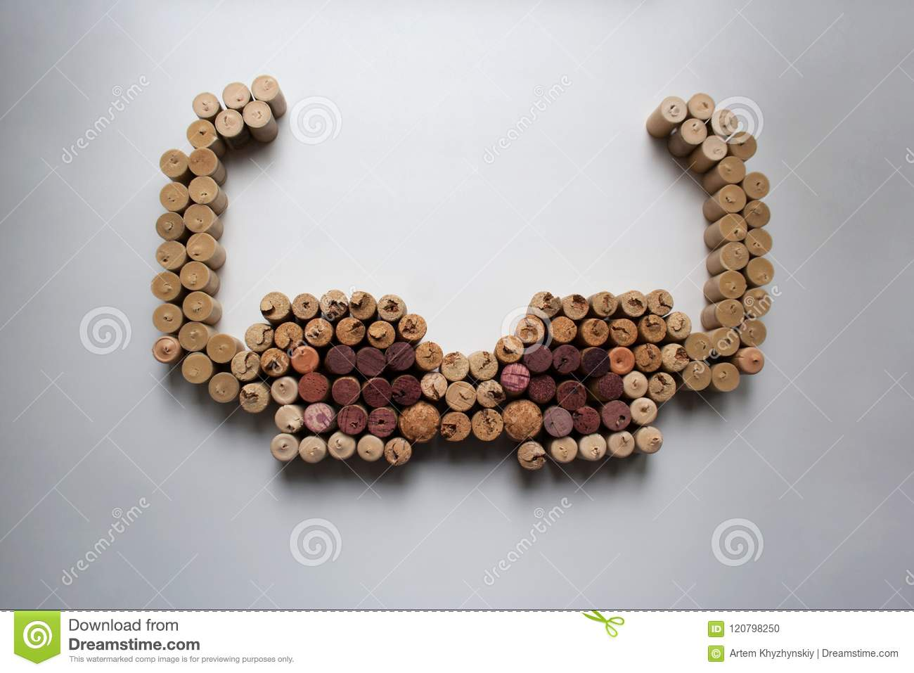 09a71d9a2ed382 Wine Corks Sunglasses Silhouette From Above Stock Photo - Image of ...