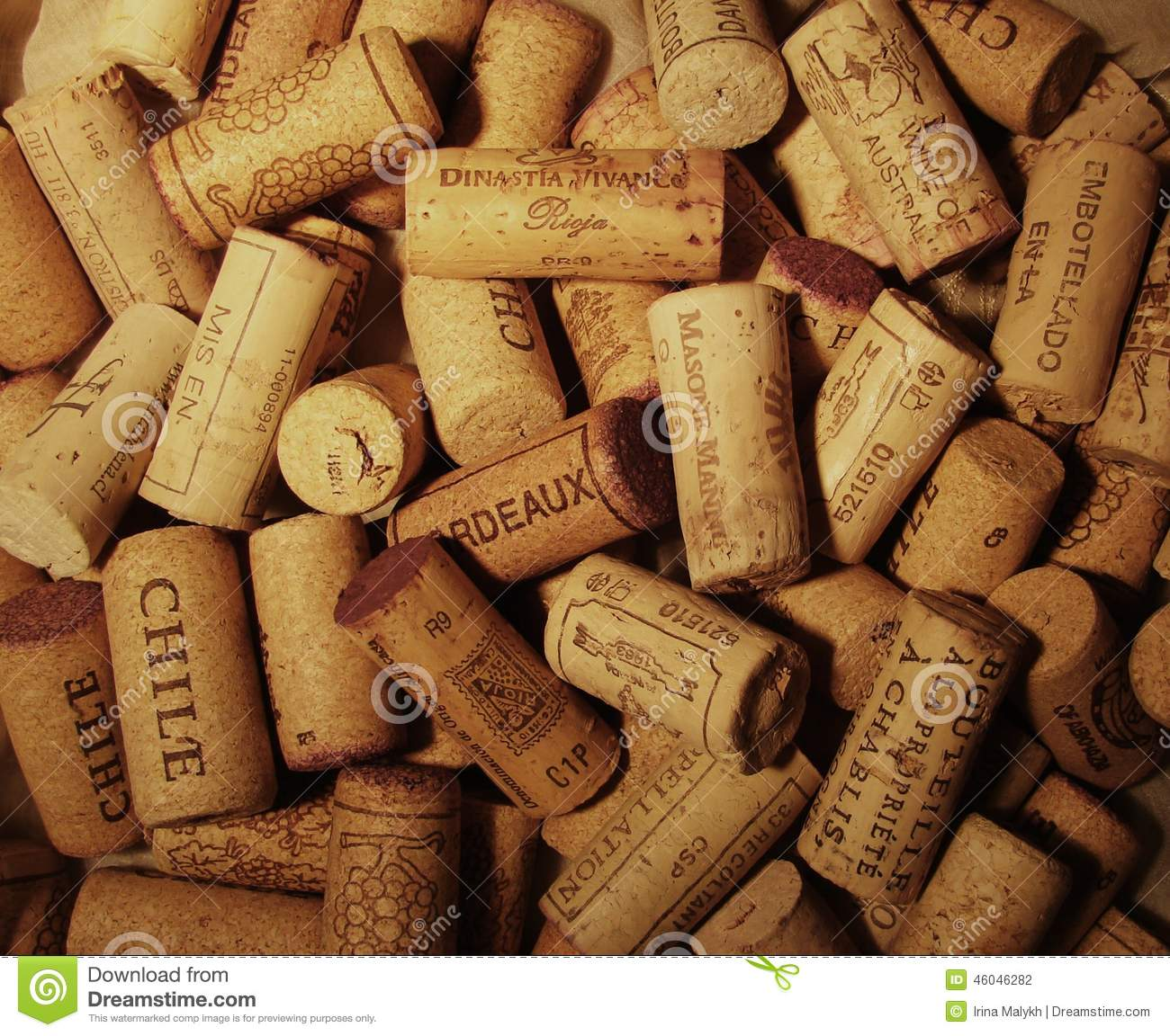 Wallpaper With Many Wine Corks Editorial Photography ...
