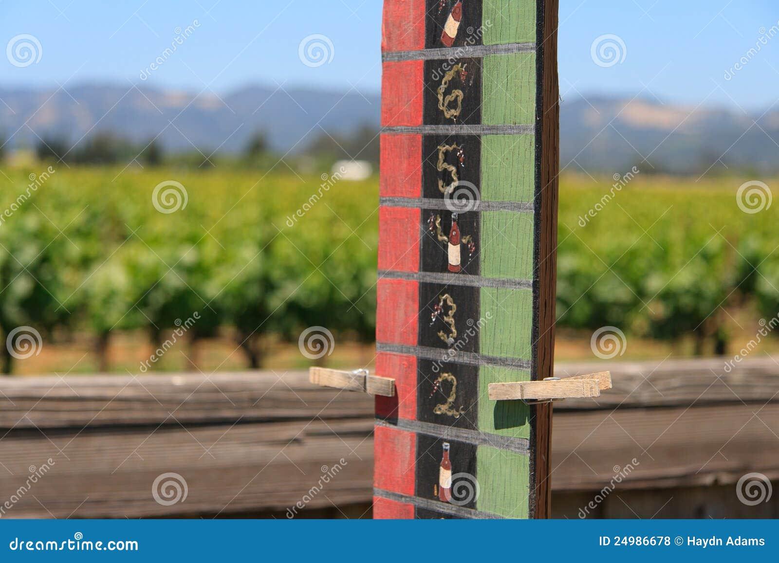 Wine Country Bocce Ball Scoreboard Score Tied Royalty