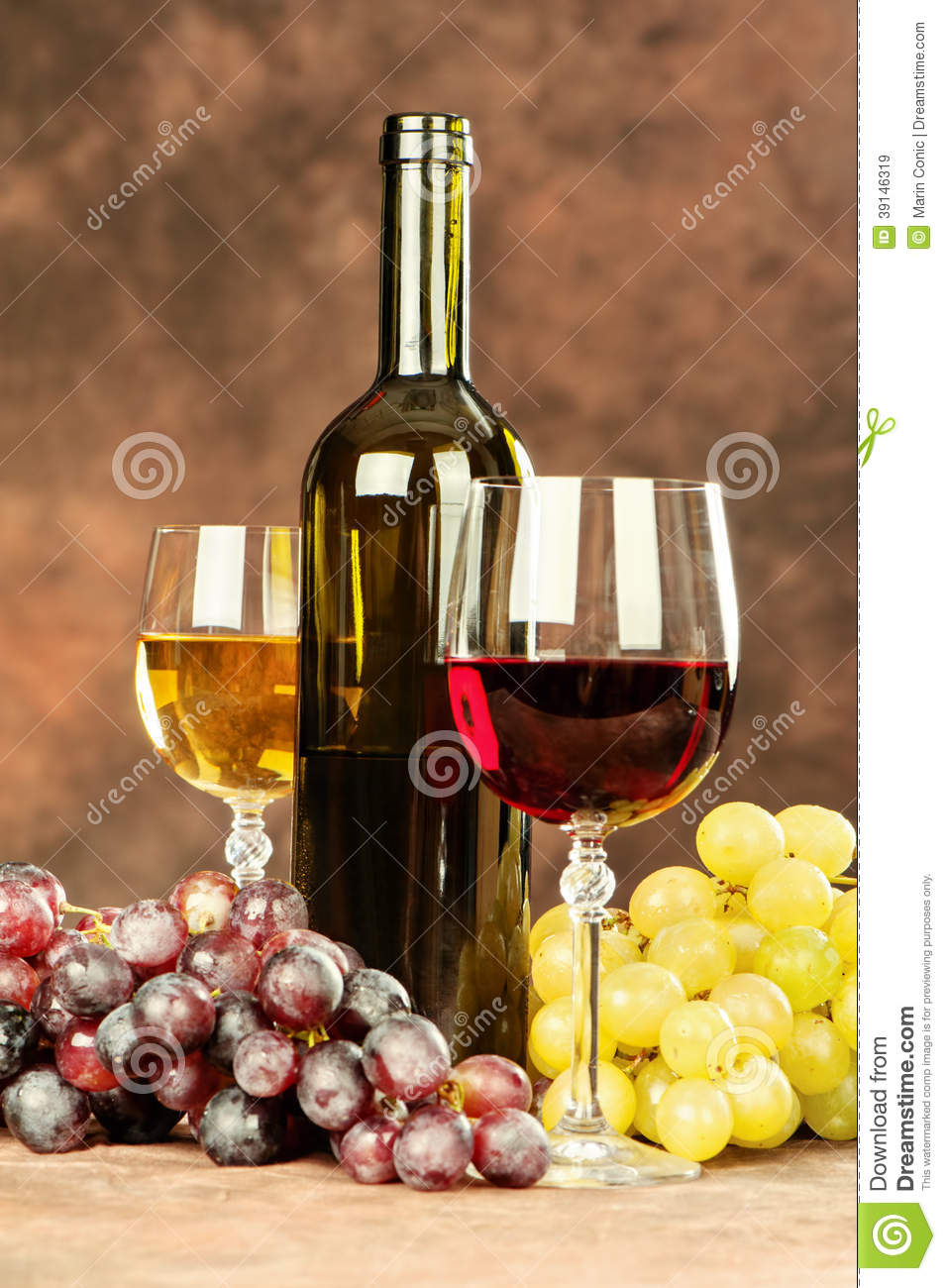 Wine cups and grape