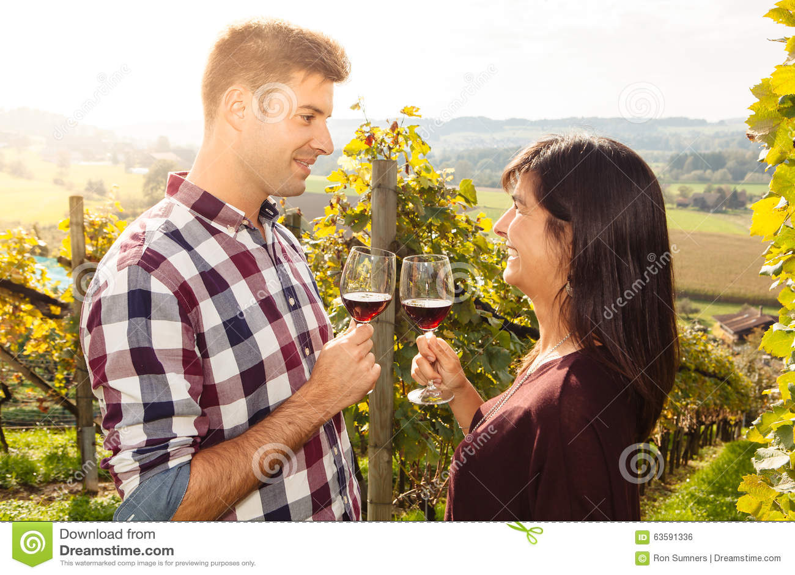 Wine för paravsmakningvingård