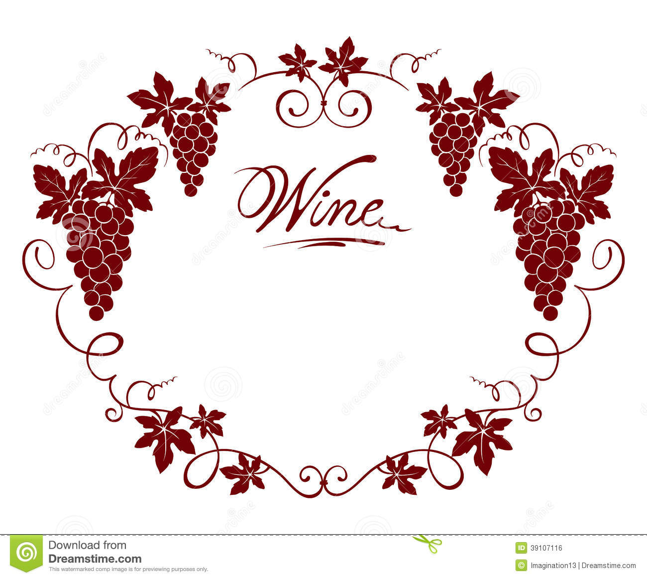 wine frame stock vector image 39107116