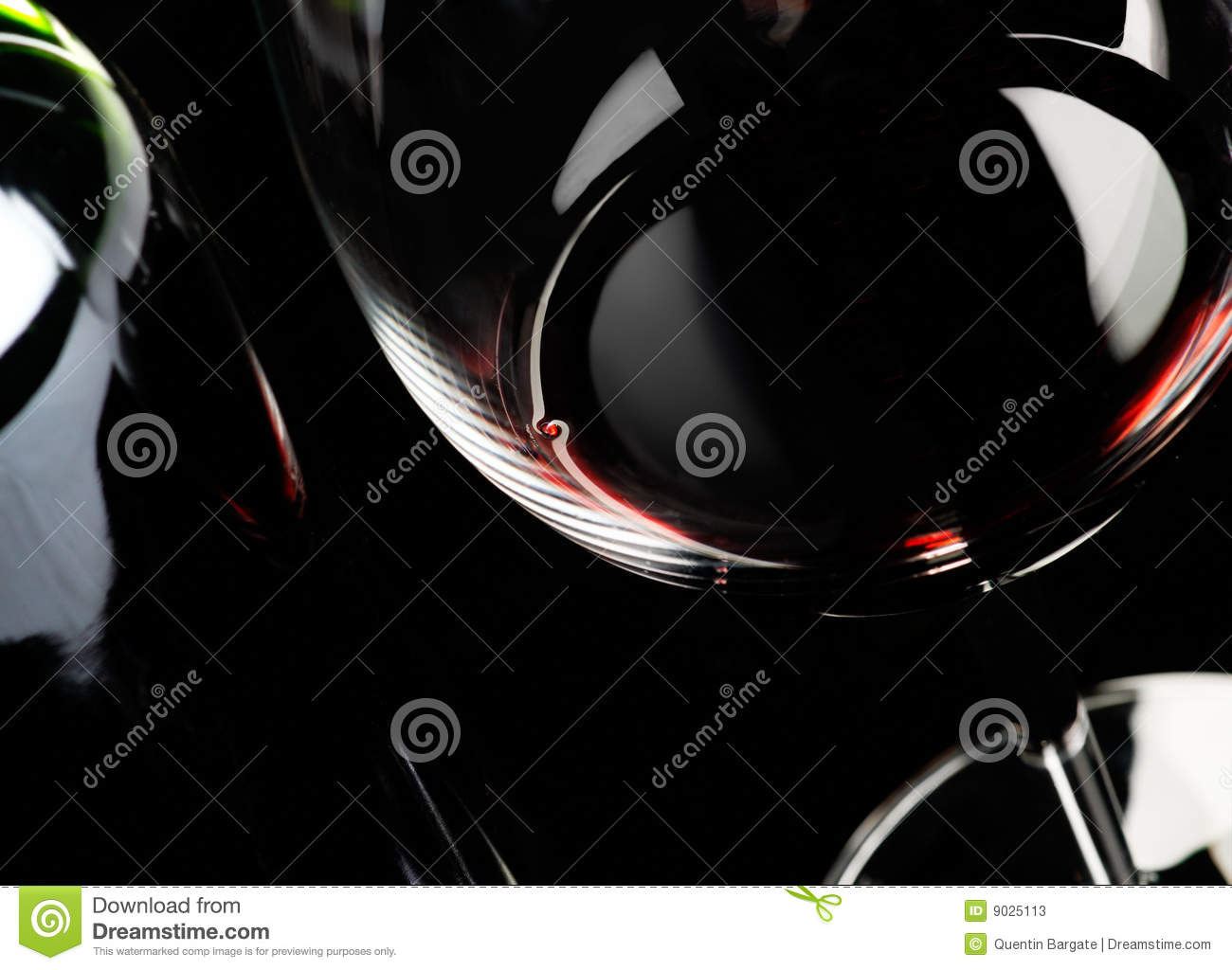 Wine glass and bottle abstract