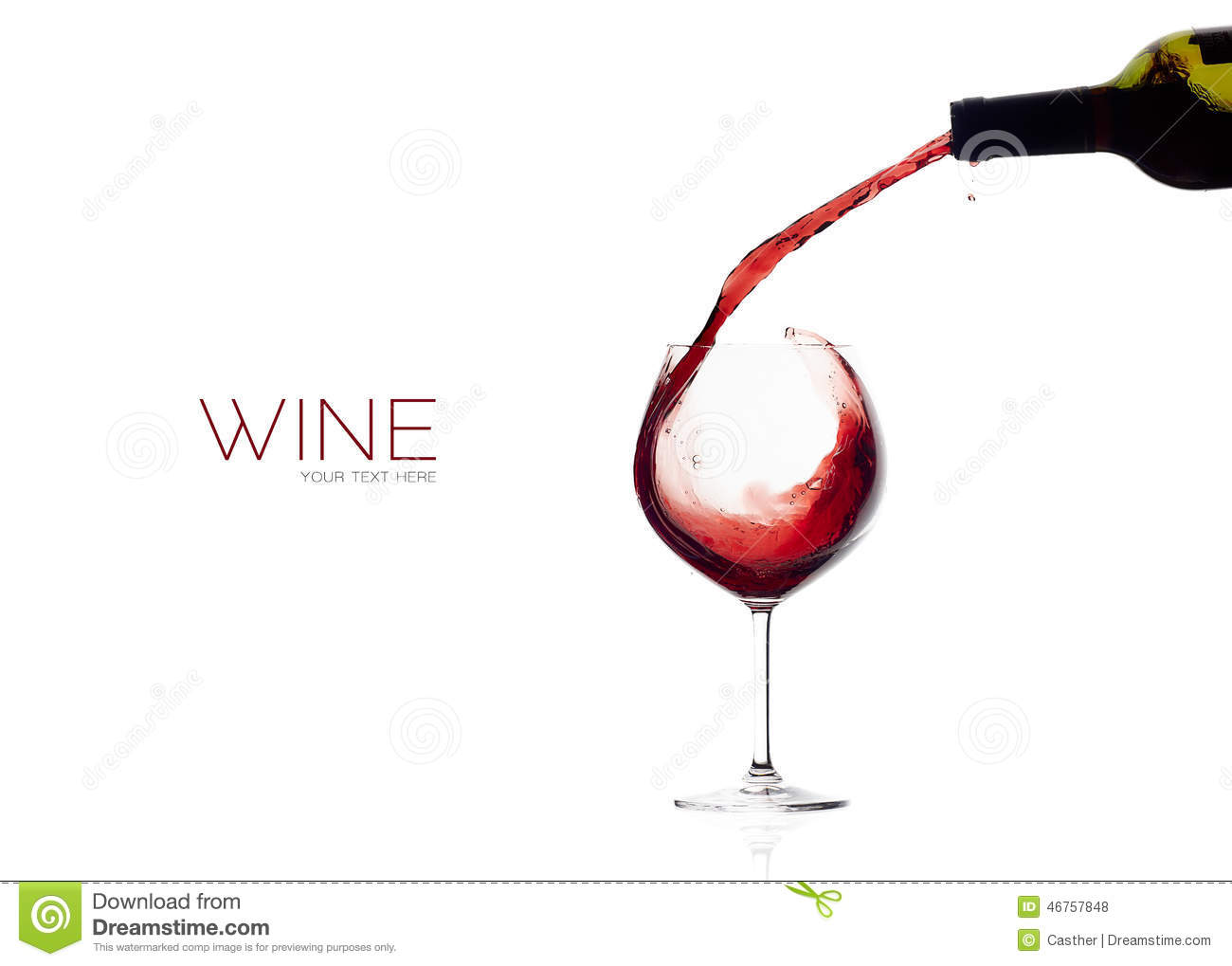 Wine. Glass And Bottle. Red Wine Splash Stock Photo ...
