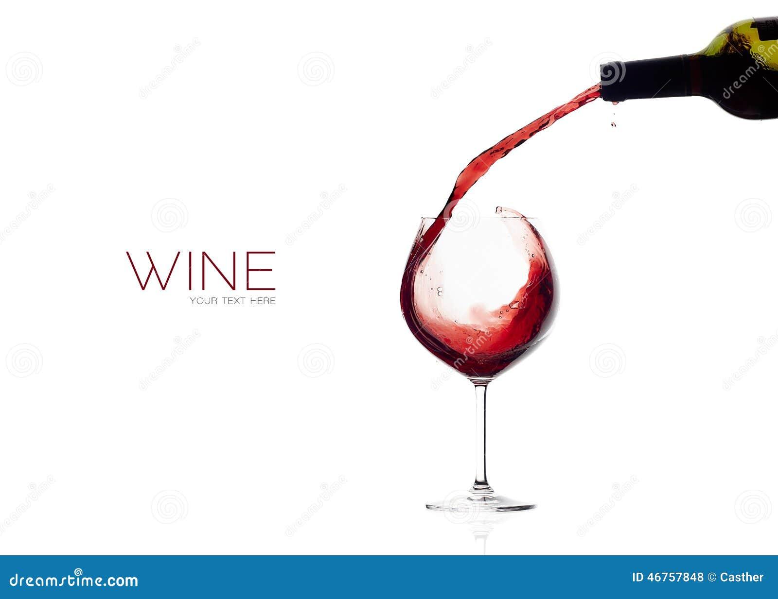 Wine. Glass And Bottle. Red Wine Splash Stock Photo ...
