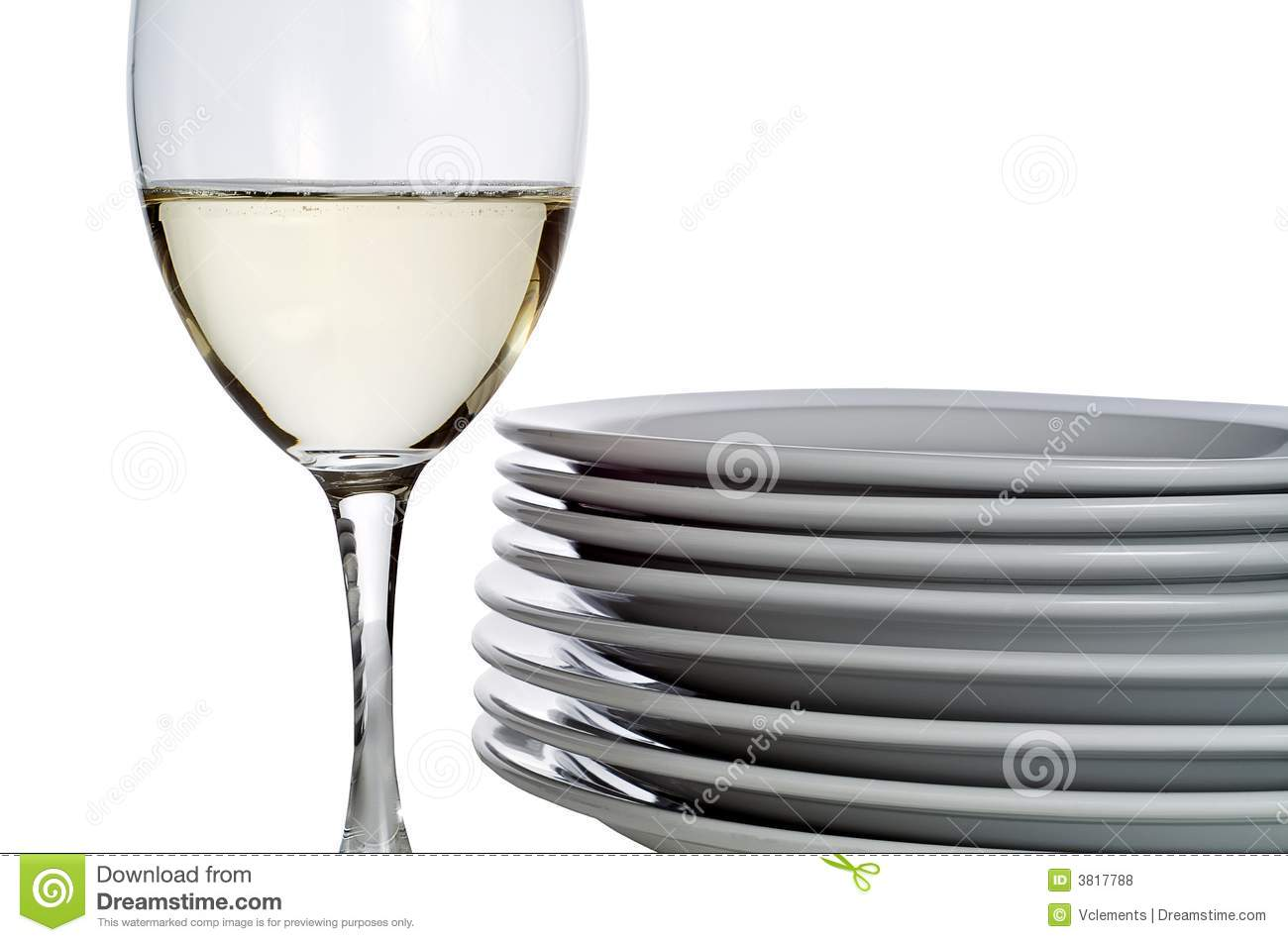 Wine glass and plates
