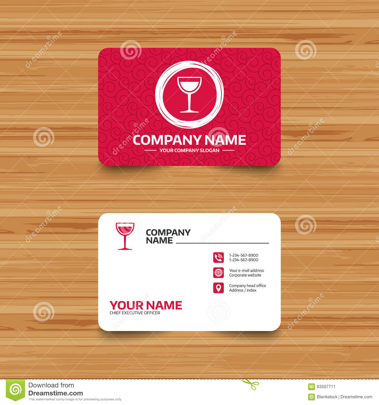 Wine Glass Sign Icon Alcohol Drink Symbol Royalty Free Vector