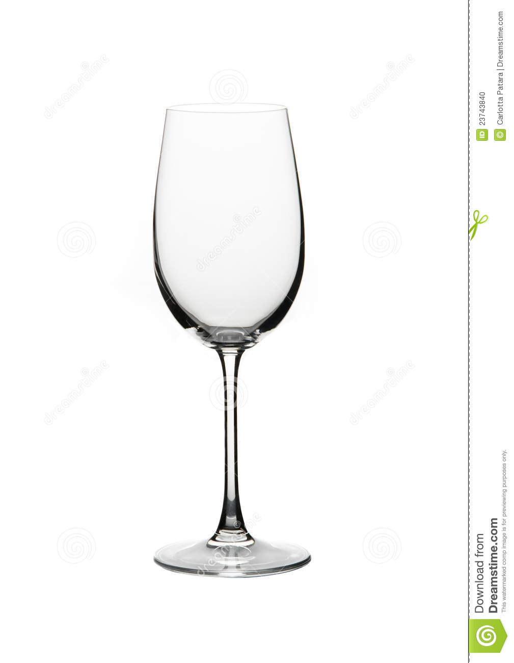 Wine Glass On A White Background Stock Photo - Image: 23743840