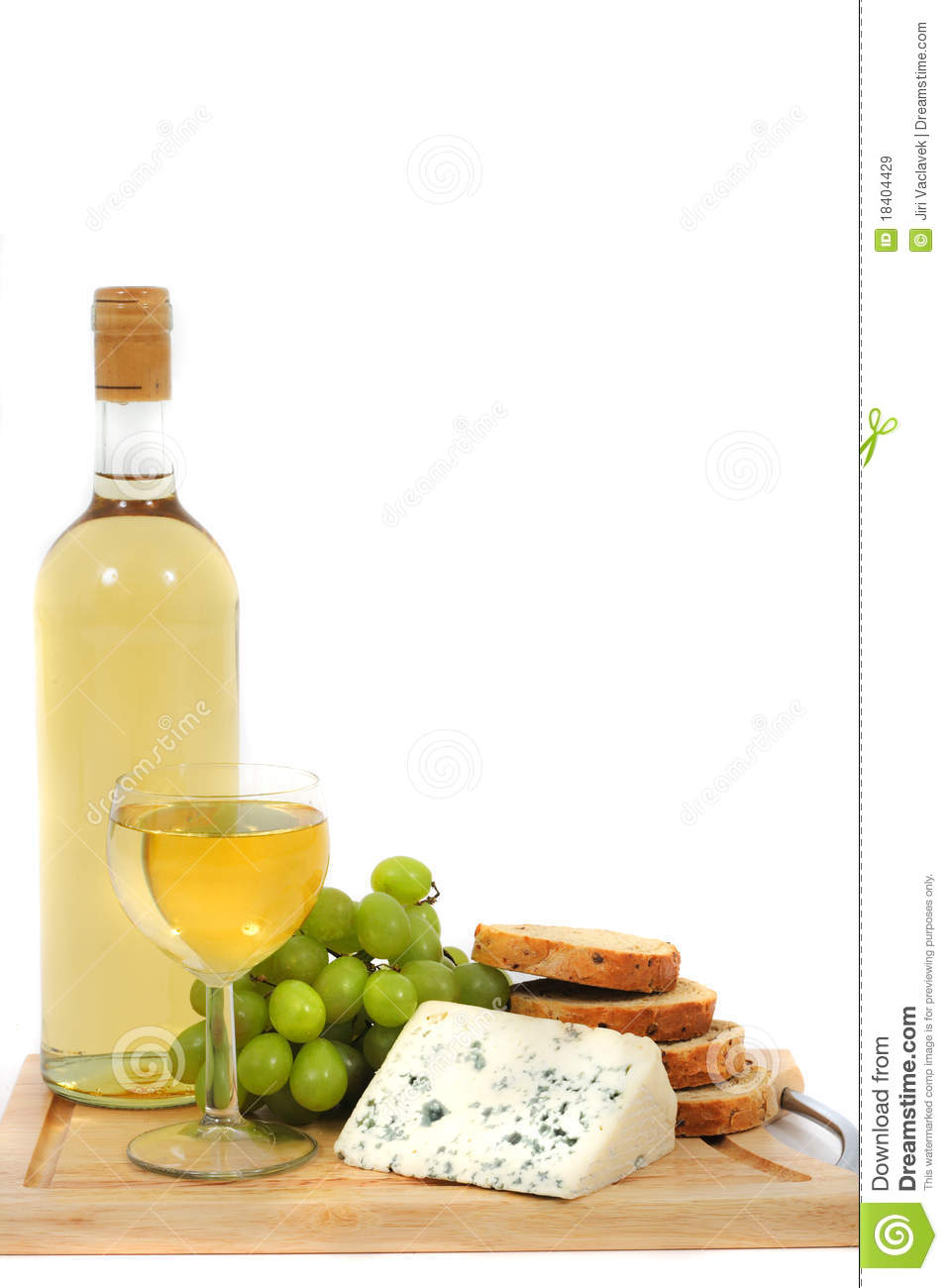Wine, Grapes, Cheese And Bread Royalty Free Stock Images - Image ...