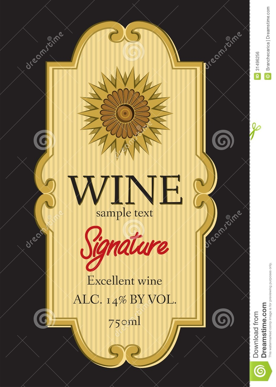 Wine Label Design  Free Wine Bottle Label Templates