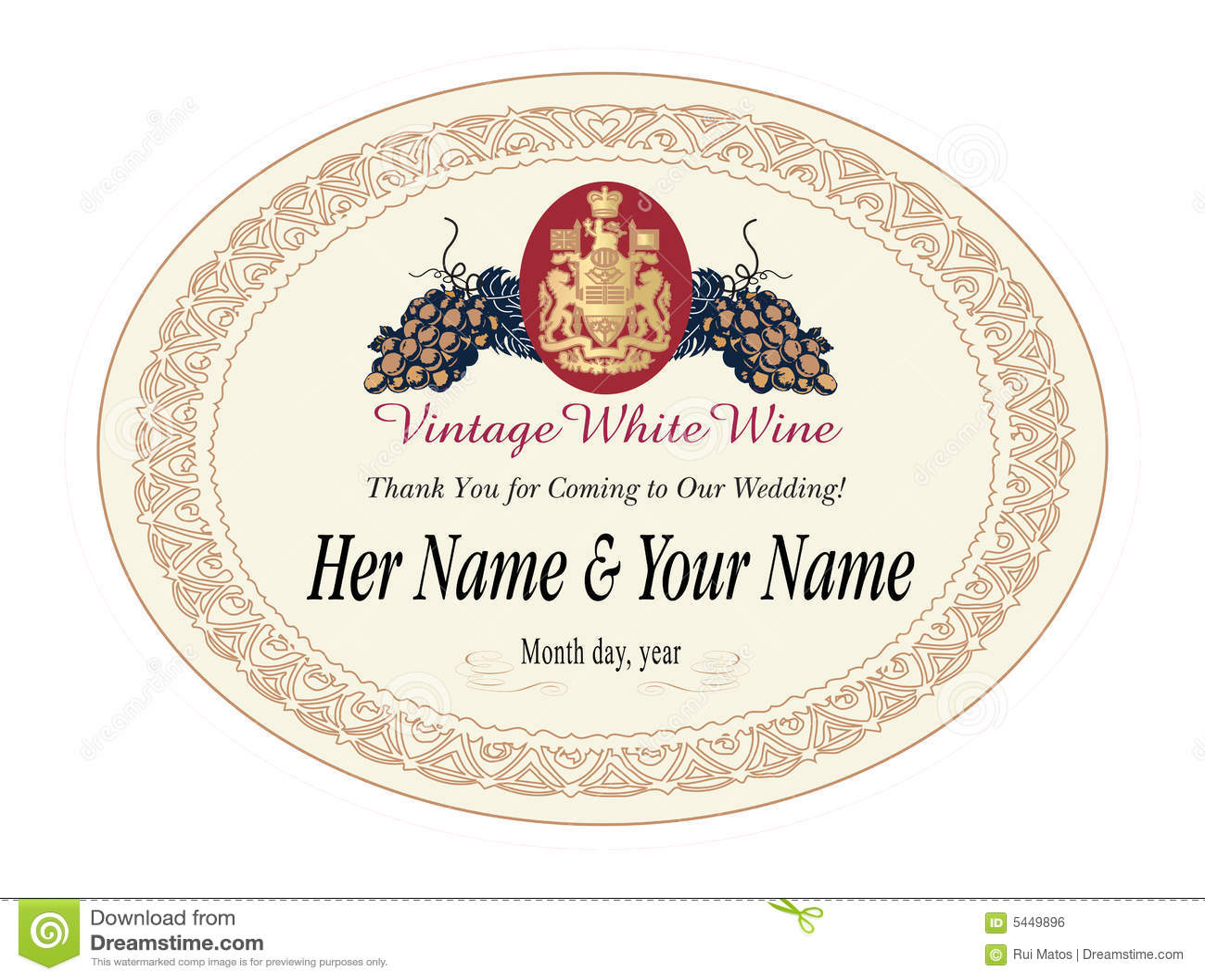 Wine Label Vector Illustration Royalty Free Stock Image - Image ...