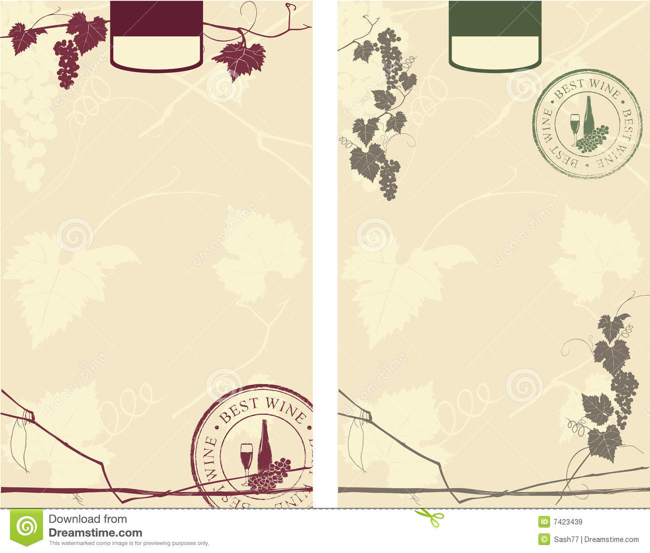 Wine Labels Royalty Free Stock Images - Image: 7423439