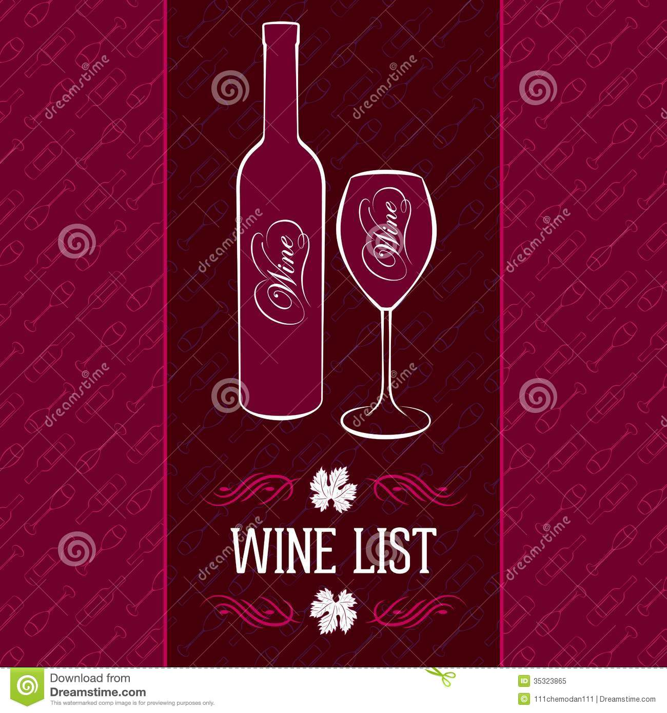 wine list design stock vector  image of burgundy  concept