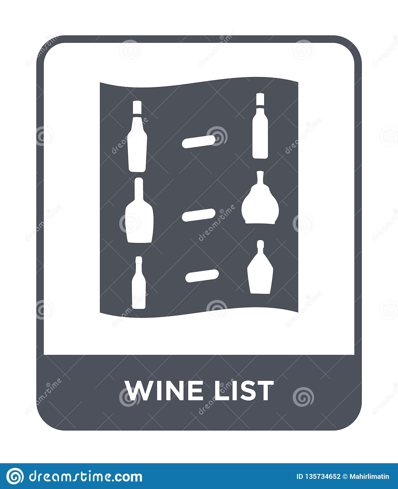 wine list icon in trendy design style. wine list icon isolated on white background. wine list vector icon simple and modern flat