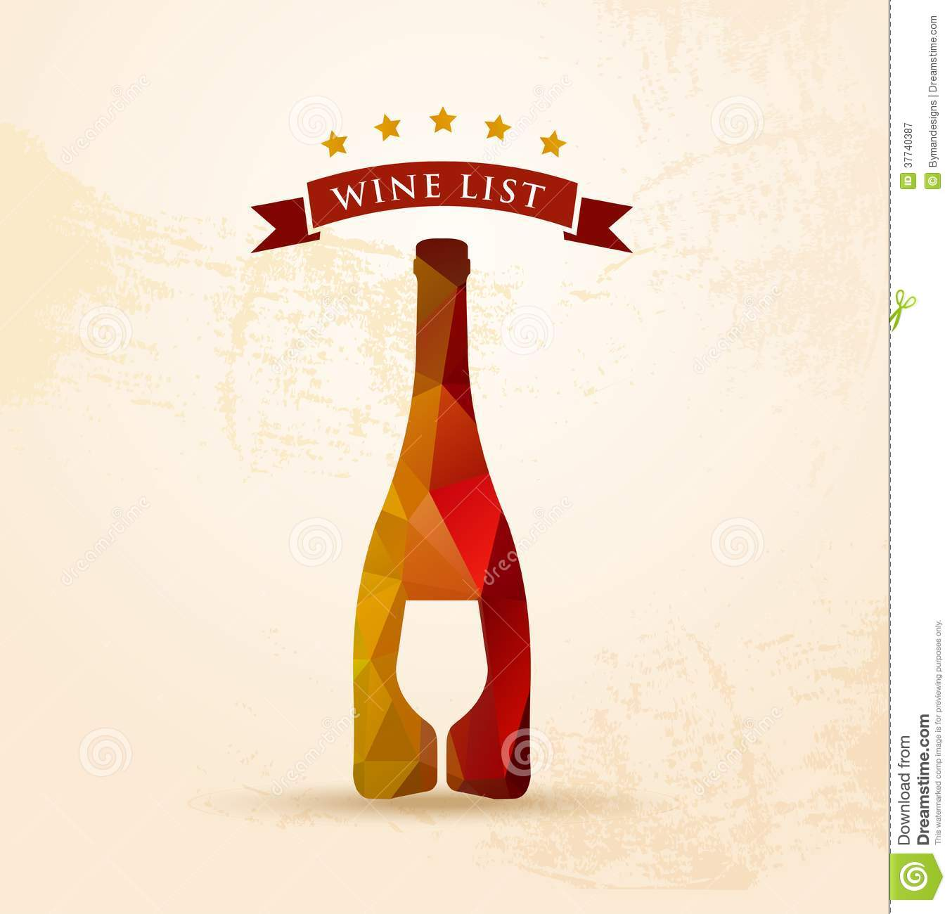 wine list menu stock vector. illustration of menu, premium - 37740387