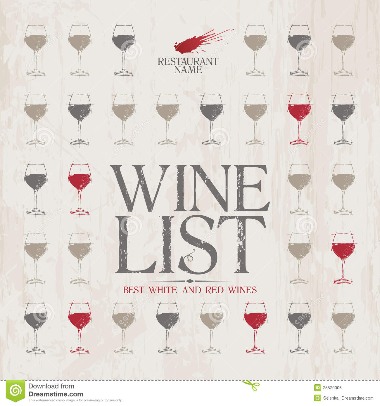Nice Wine List Menu Template. Idea Free Wine List Template