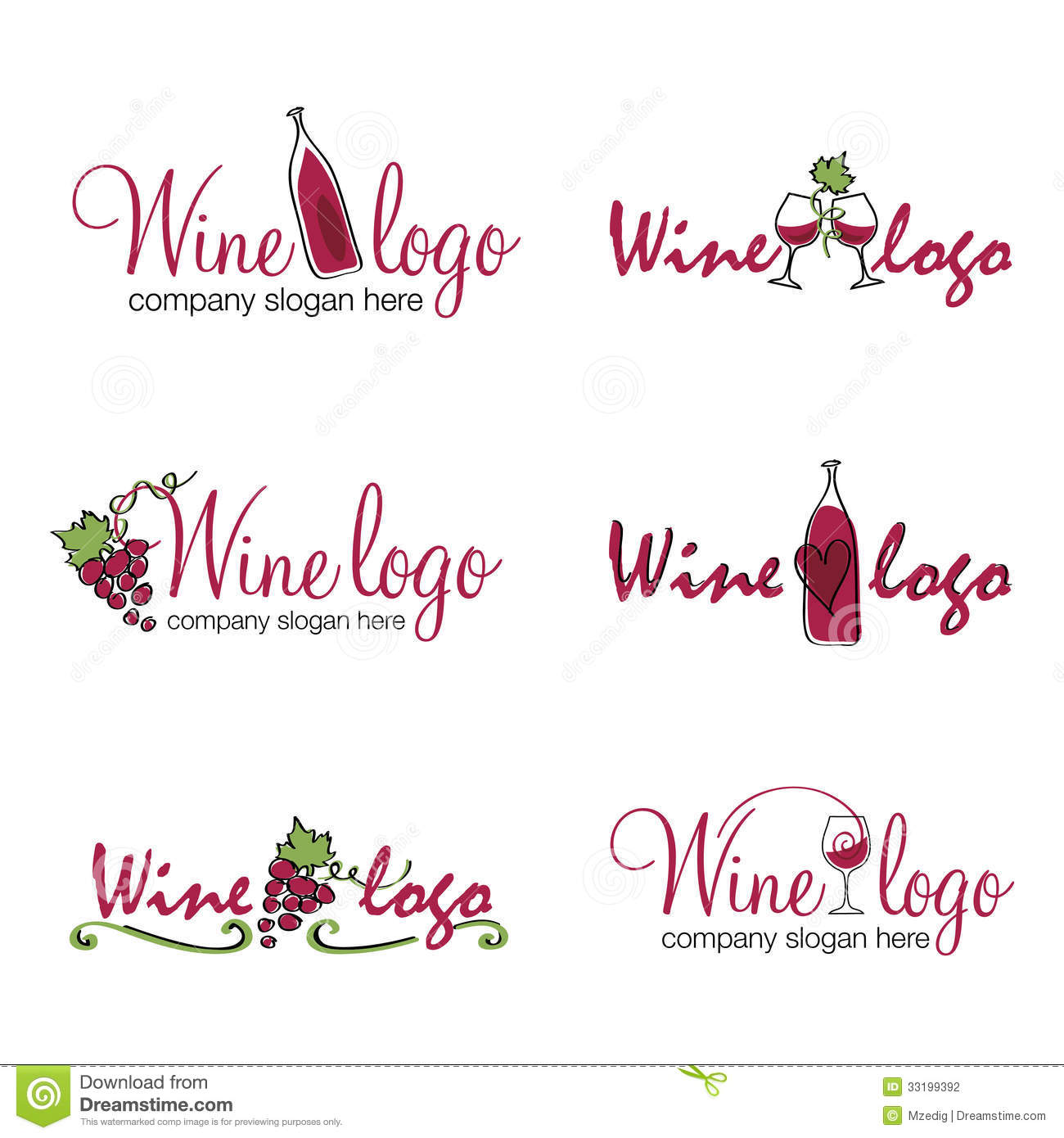 ... with wine bottles, glasses, vines and leaves. Vector format available