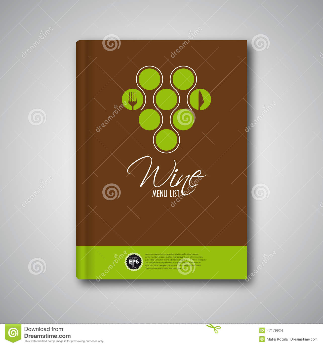 Wine Brochure Cover Stock Vector Illustration Of Road 19336371