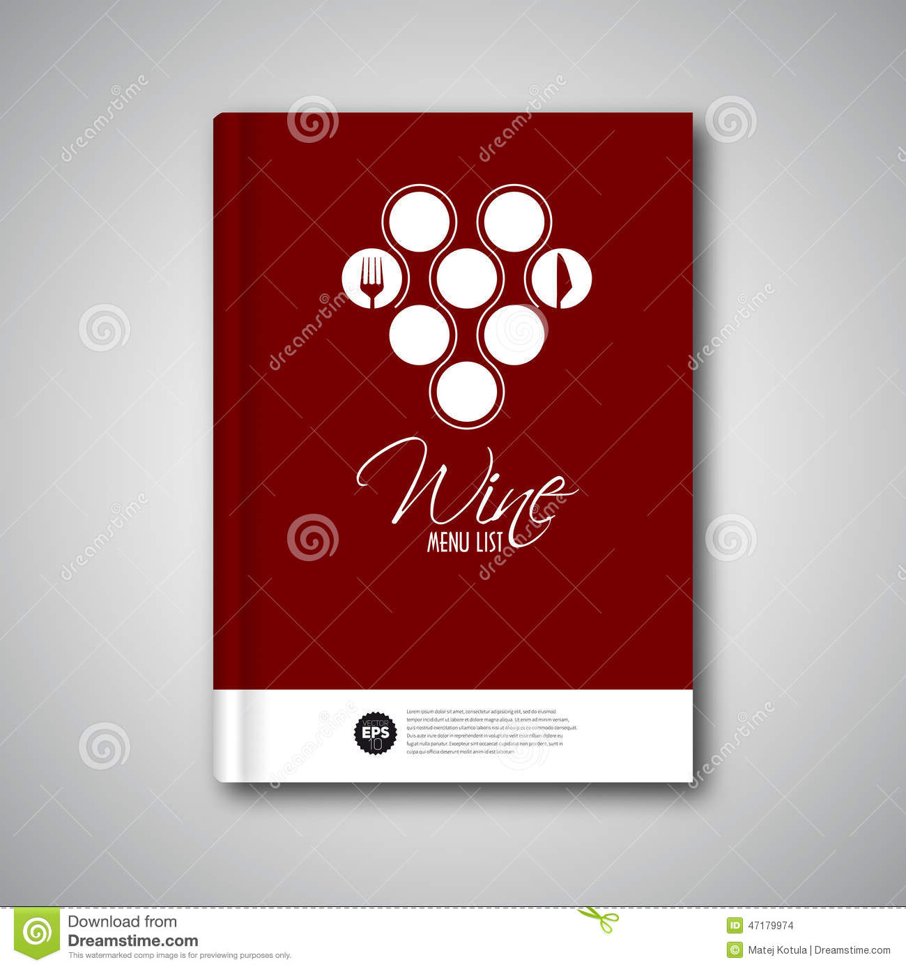 Wine menu design template cover brochure card stock for Wine brochure template