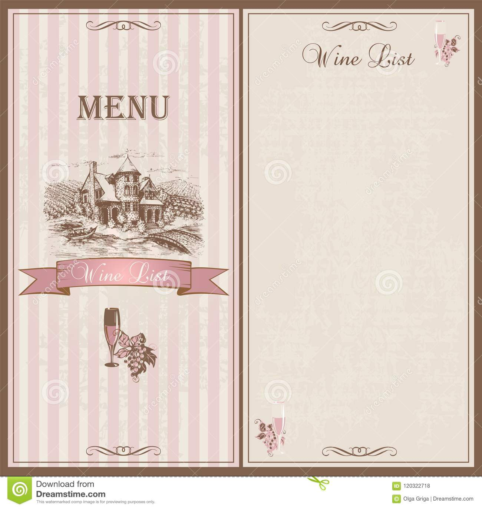 wine menu wine list template design for restaurants sketch of the