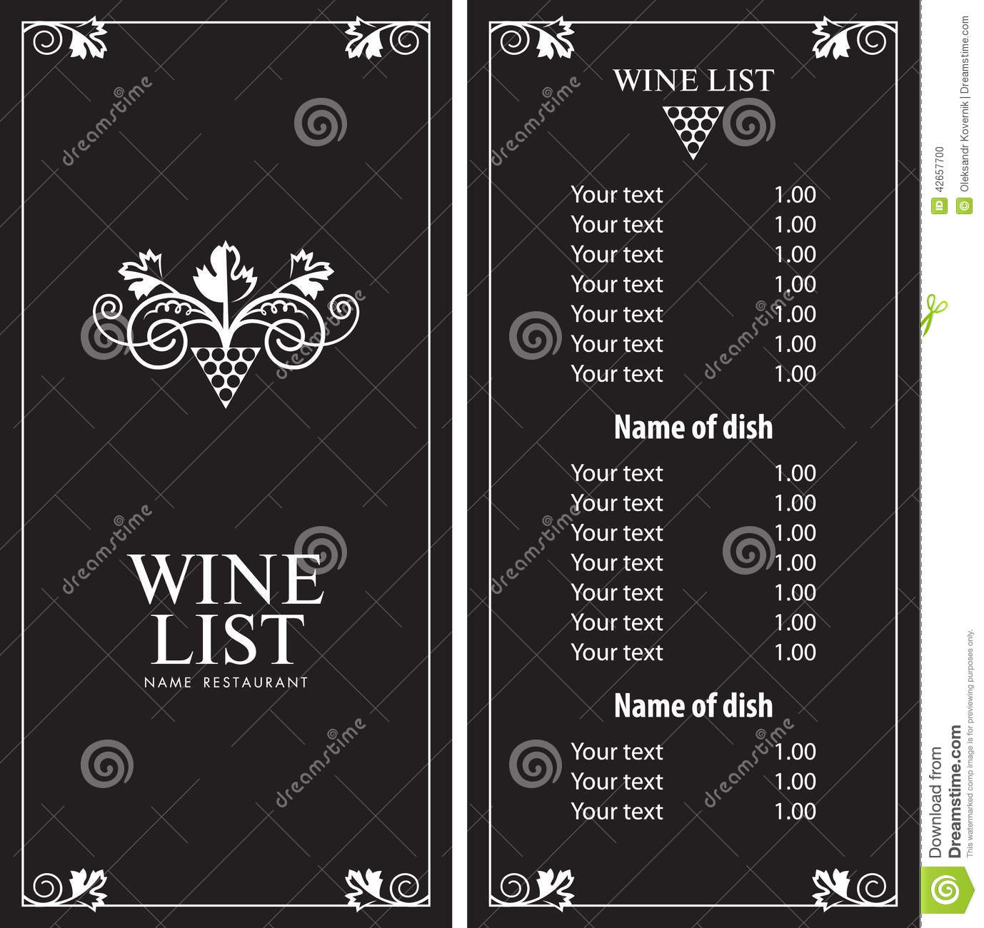 Wine Menu Templates – 31+ Free PSD, EPS Documents Download! | Free ...