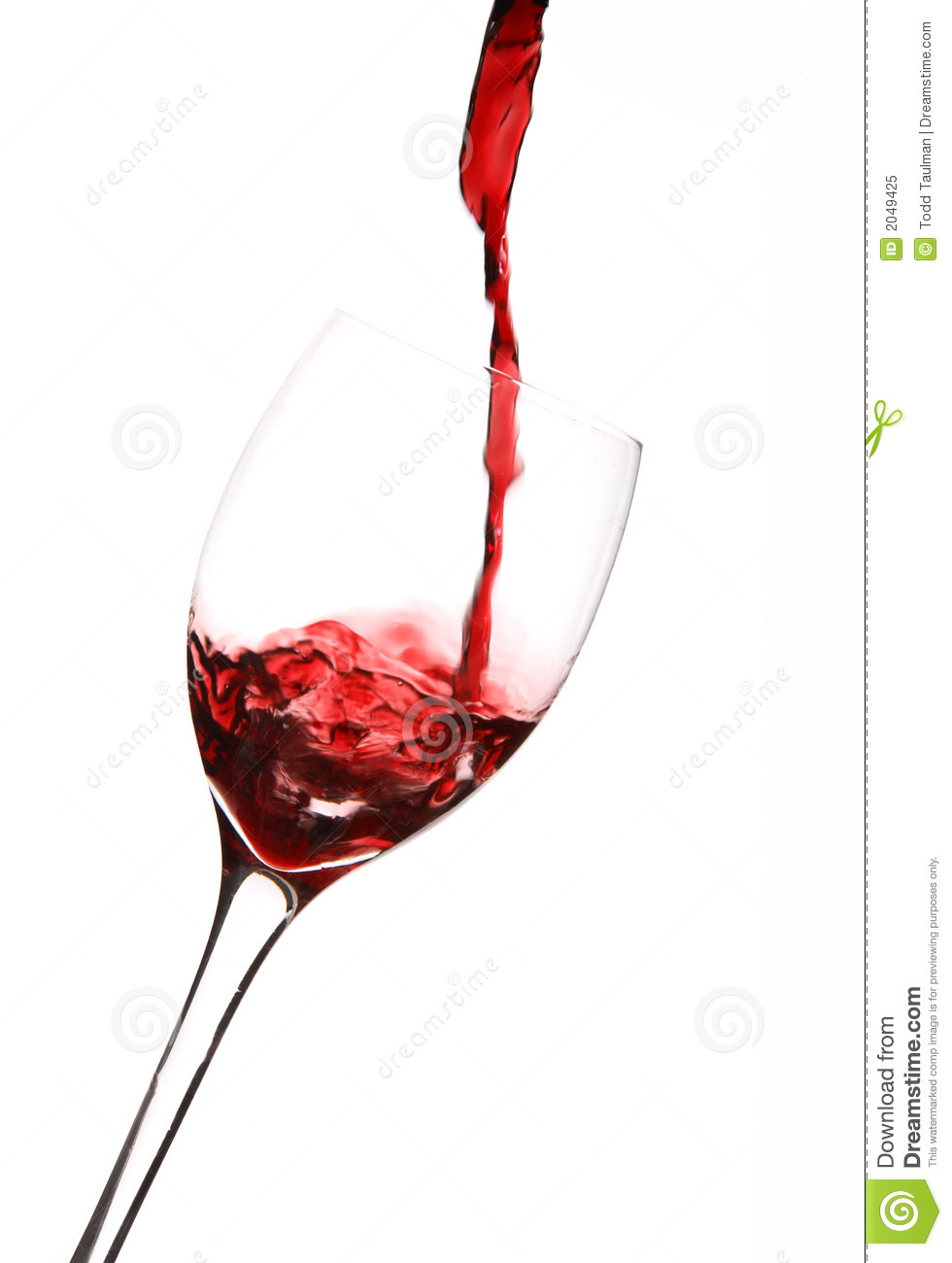 Wine Pouring Into Glass Royalty Free Stock Photo - Image ...