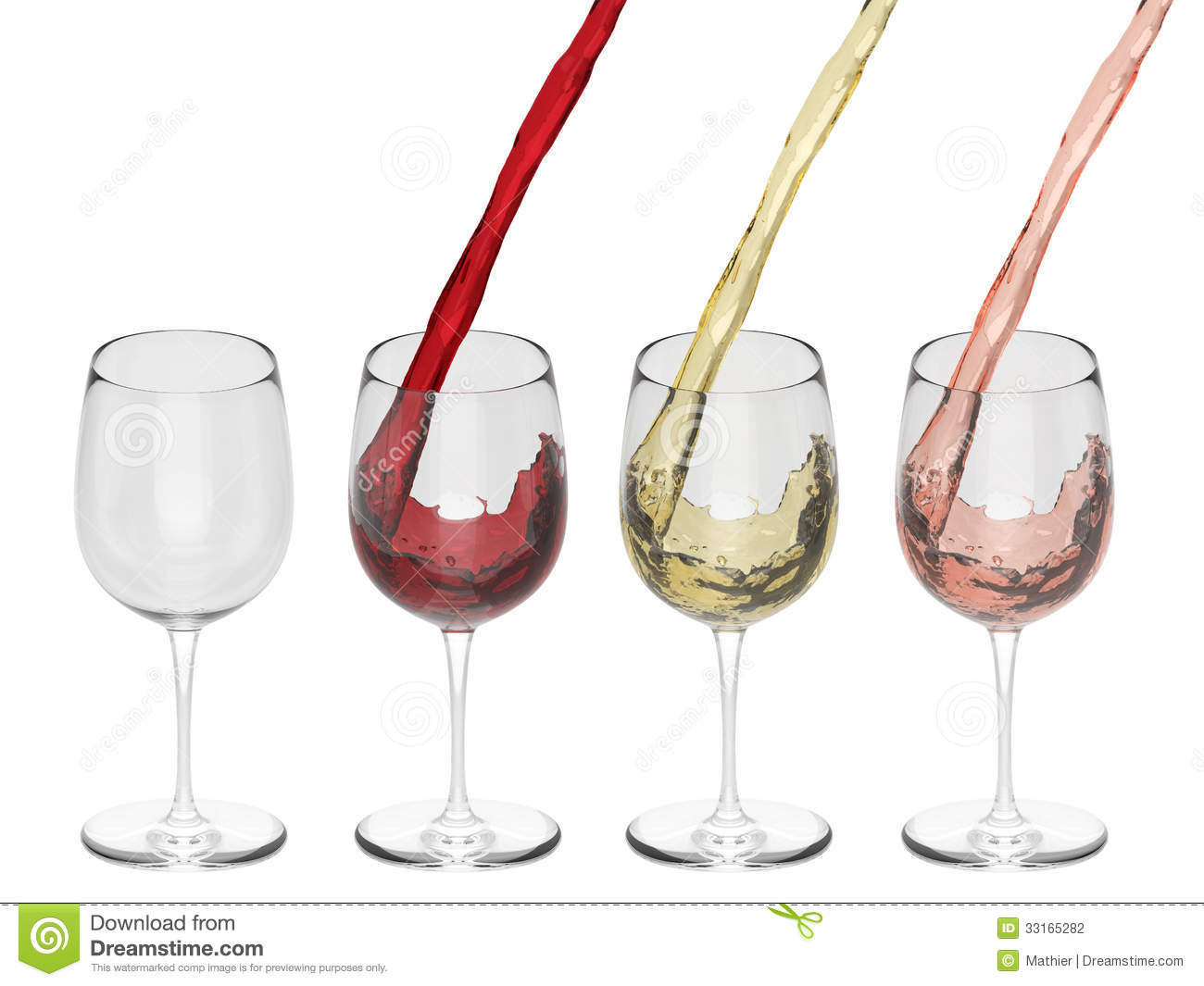 Wine Pouring Into Glass - Set Stock Photography - Image ...