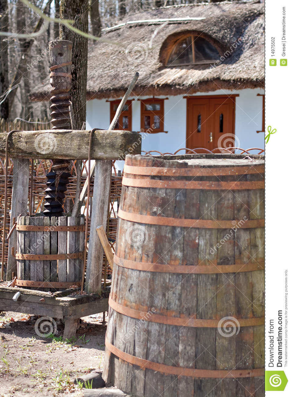 Wine press and retro home stock photography image 14975502 for Home wine press