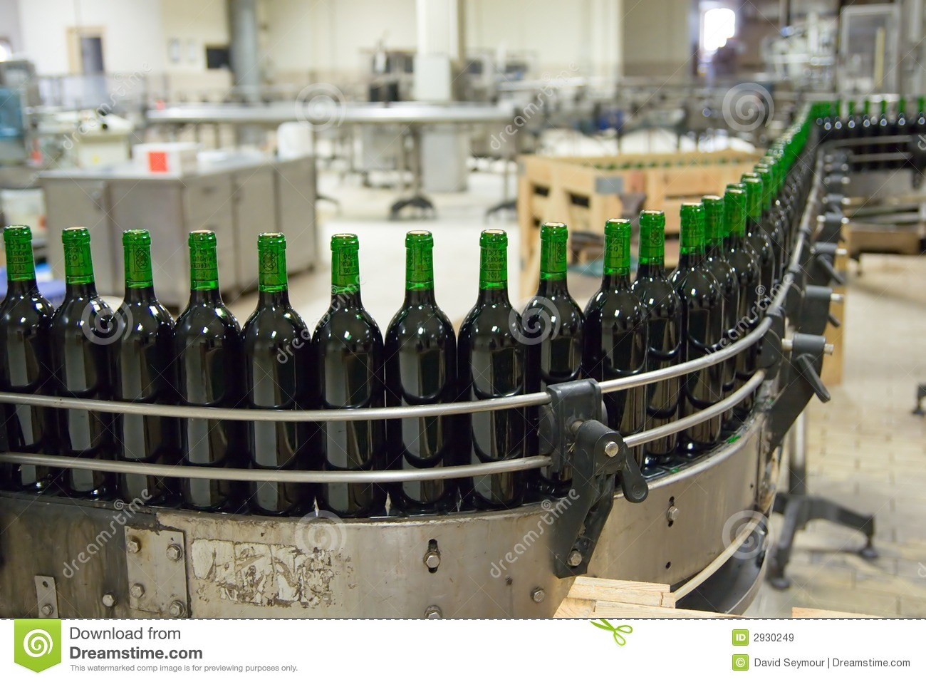 Wine Production Line Stock Image Image Of Corks Machine