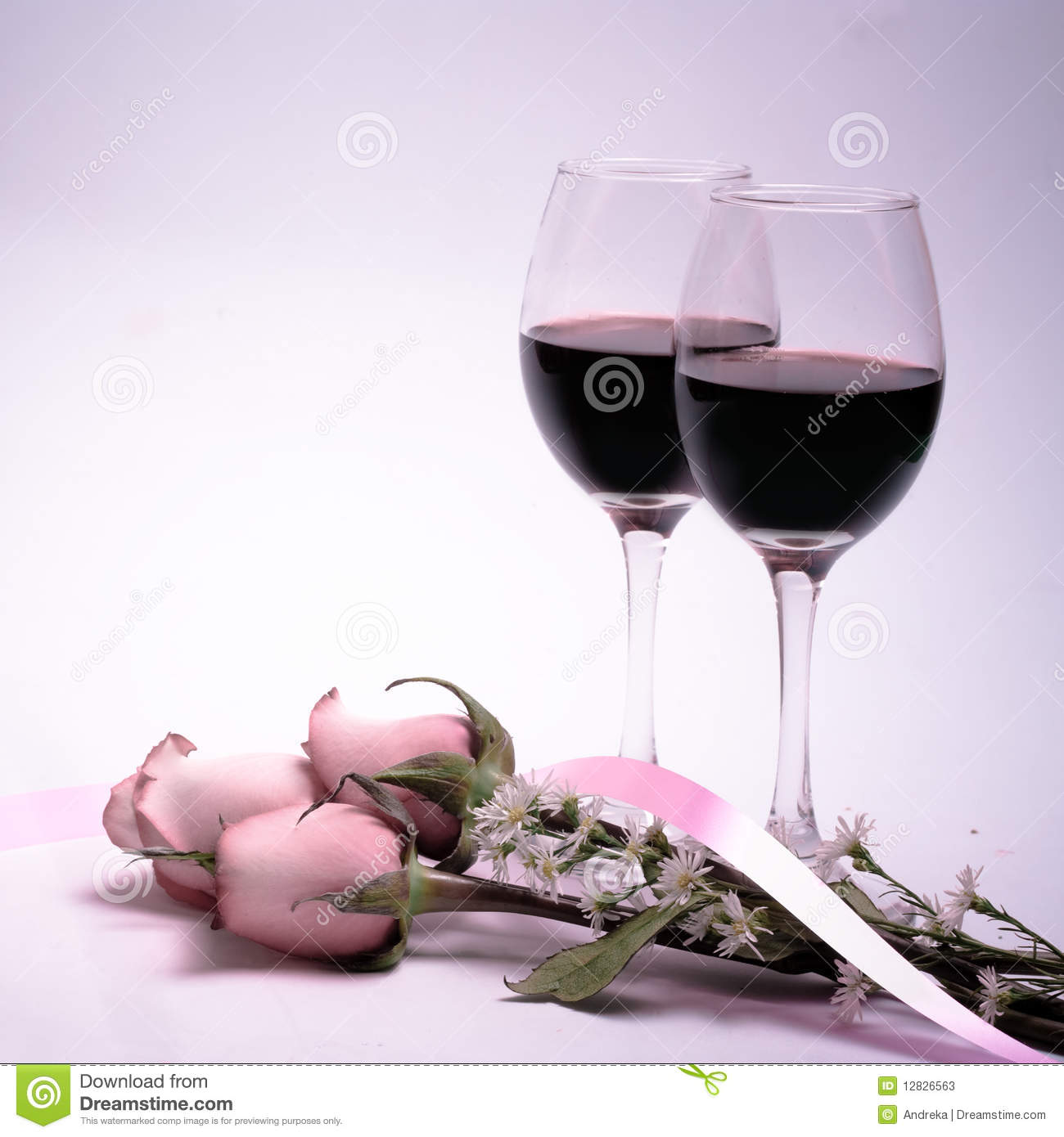 wine and roses stock photos image 12826563