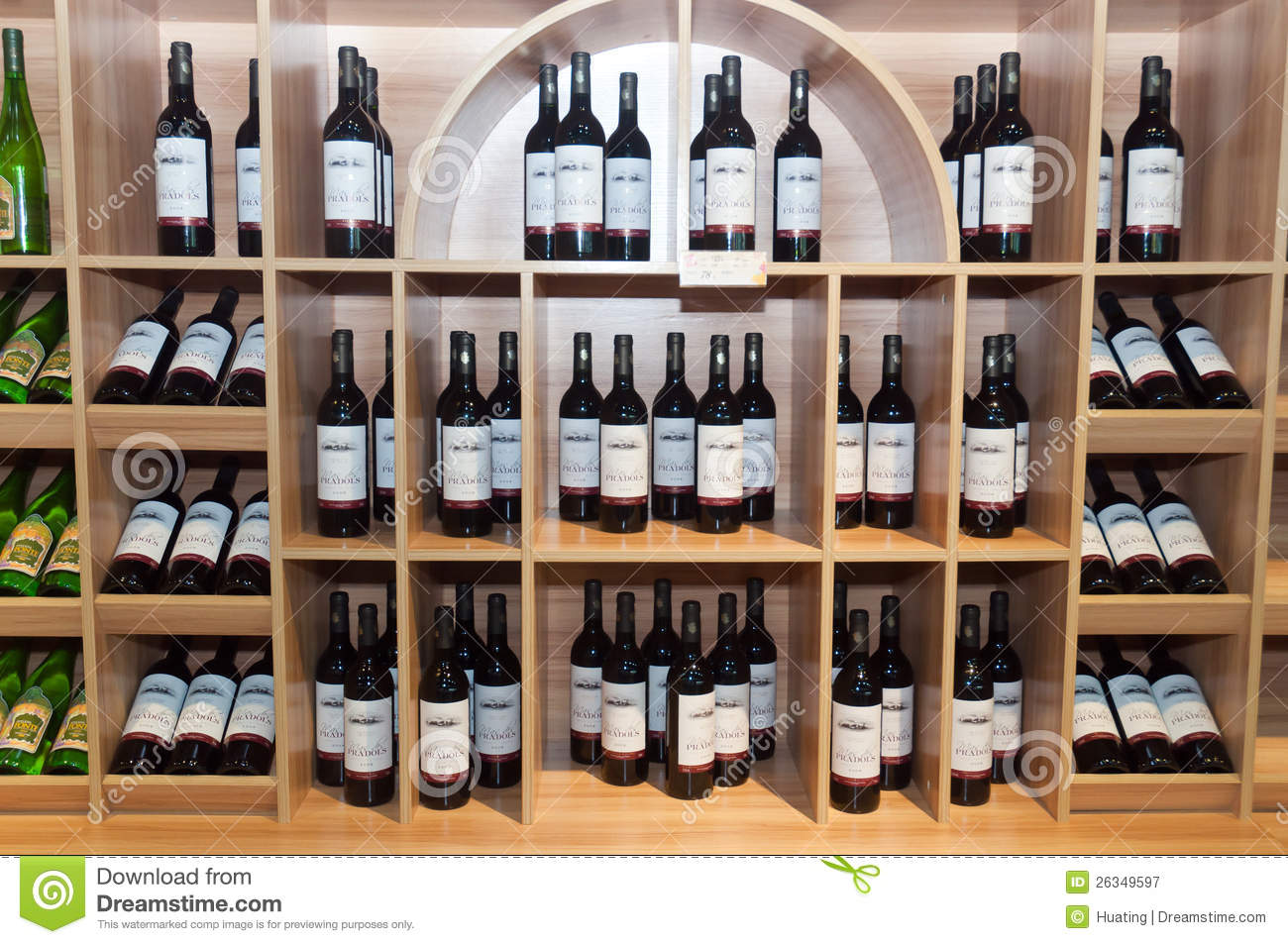 wine shelves in shop editorial photography image 26349597. Black Bedroom Furniture Sets. Home Design Ideas