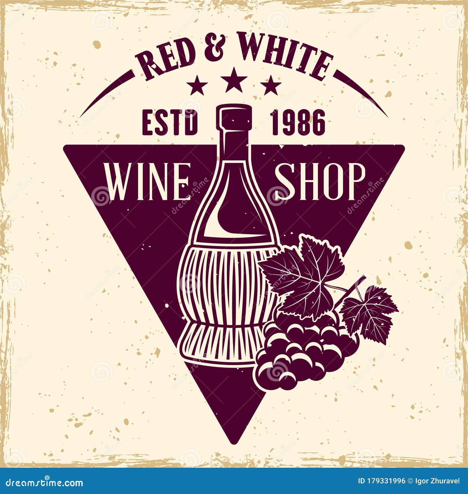 Grape Bunch For Wine Label. Cartoon Vector