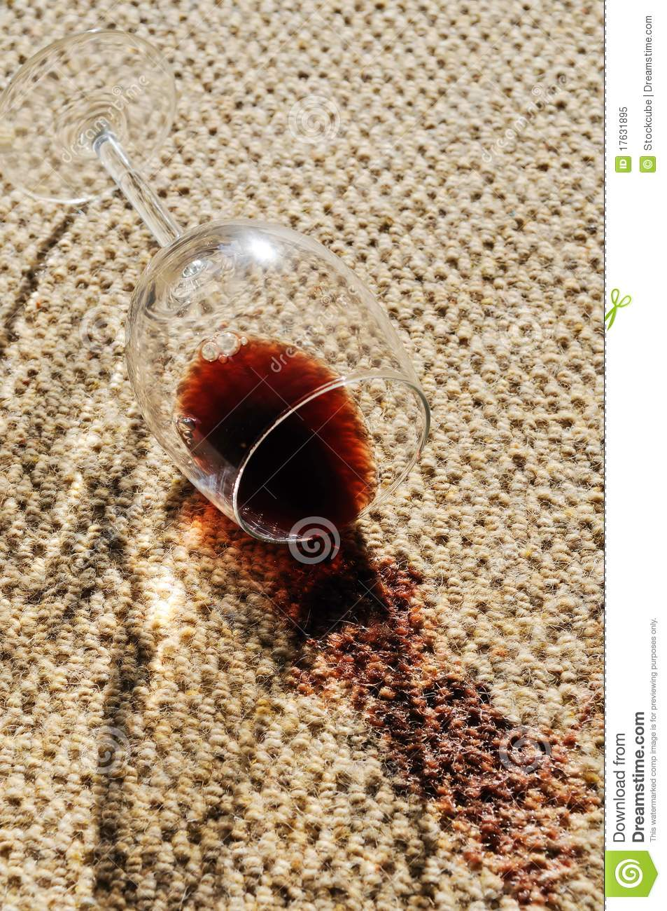 Wine Spill On A Wool Carpet Stock Image - Image: 17631895