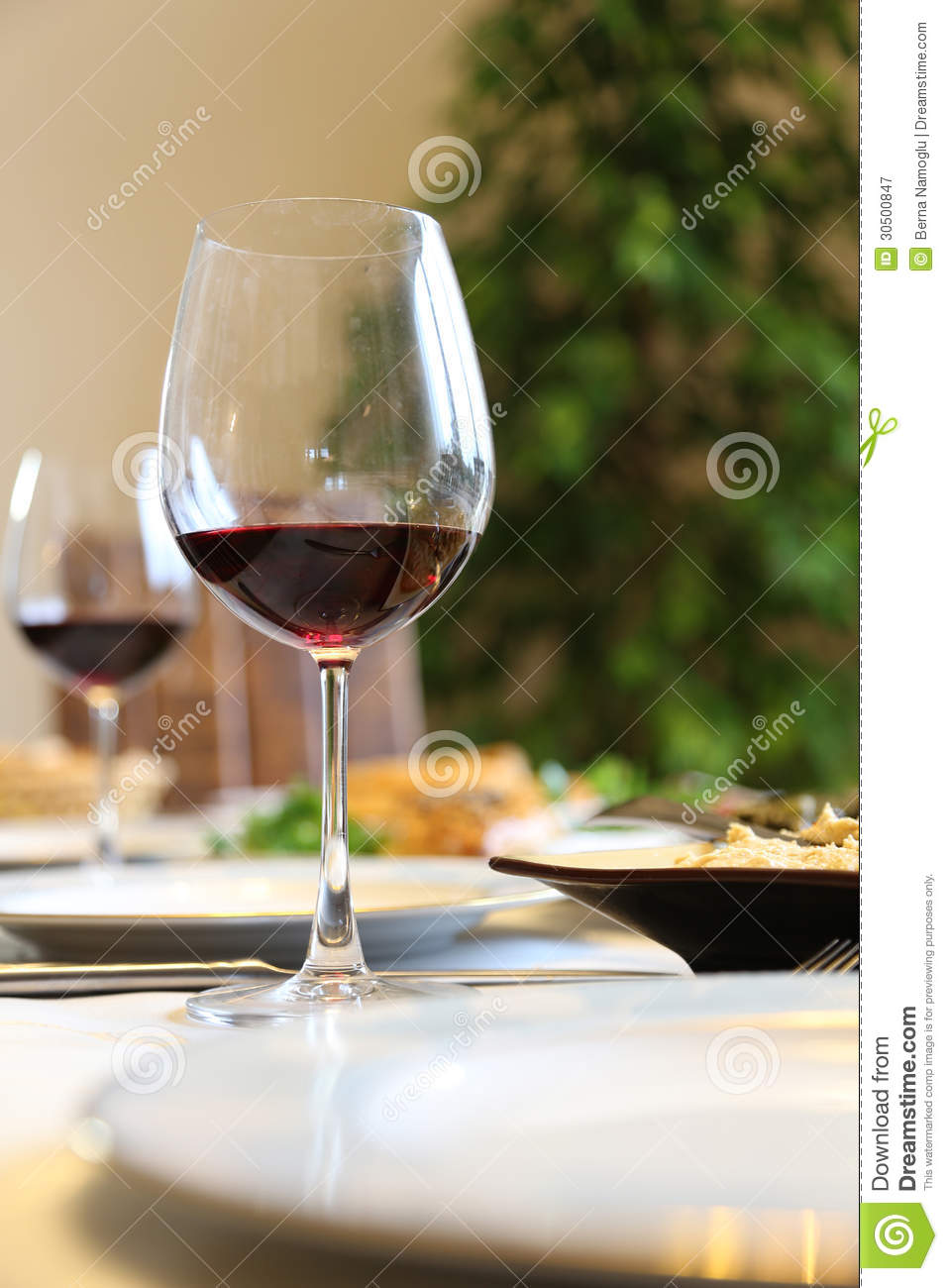 Wine On Table Royalty Free Stock Photography - Image: 30500847