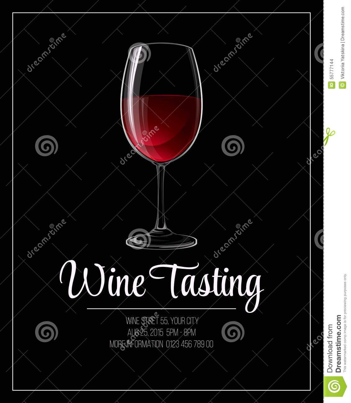 wine tasting flyer template vector illustration stock vector image 55777144. Black Bedroom Furniture Sets. Home Design Ideas