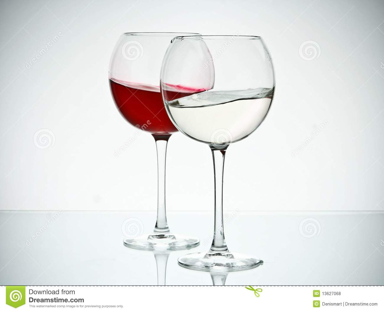 Wine And Water Glasses Royalty Free Stock Photos - Image: 13627068