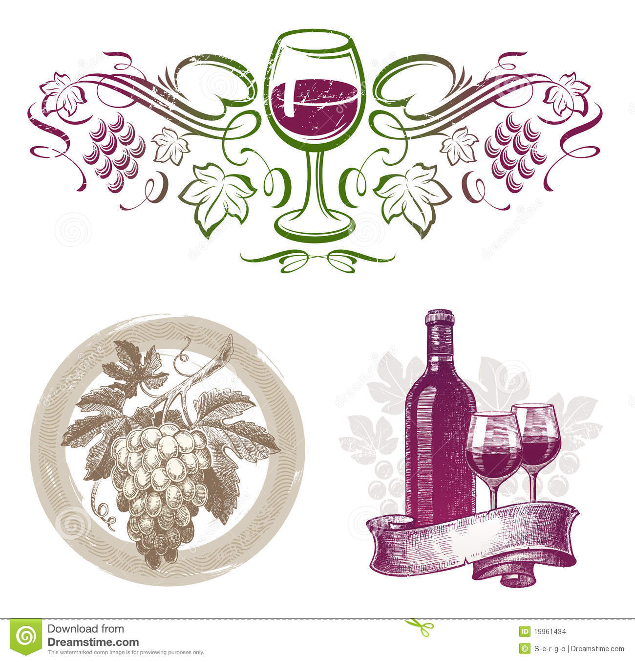 Wine & winemaking emblems & labels