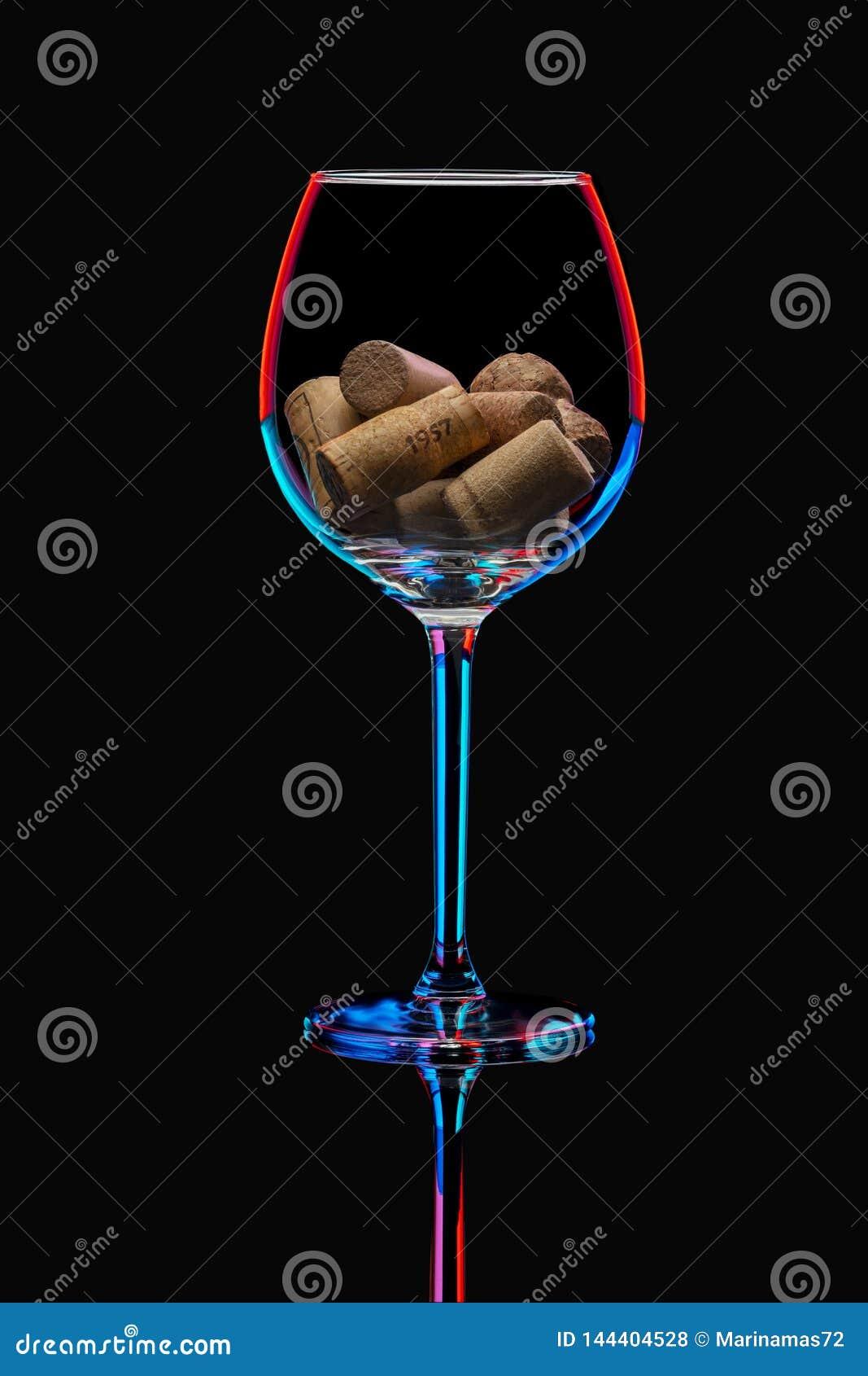 Wineglass in bright illumination