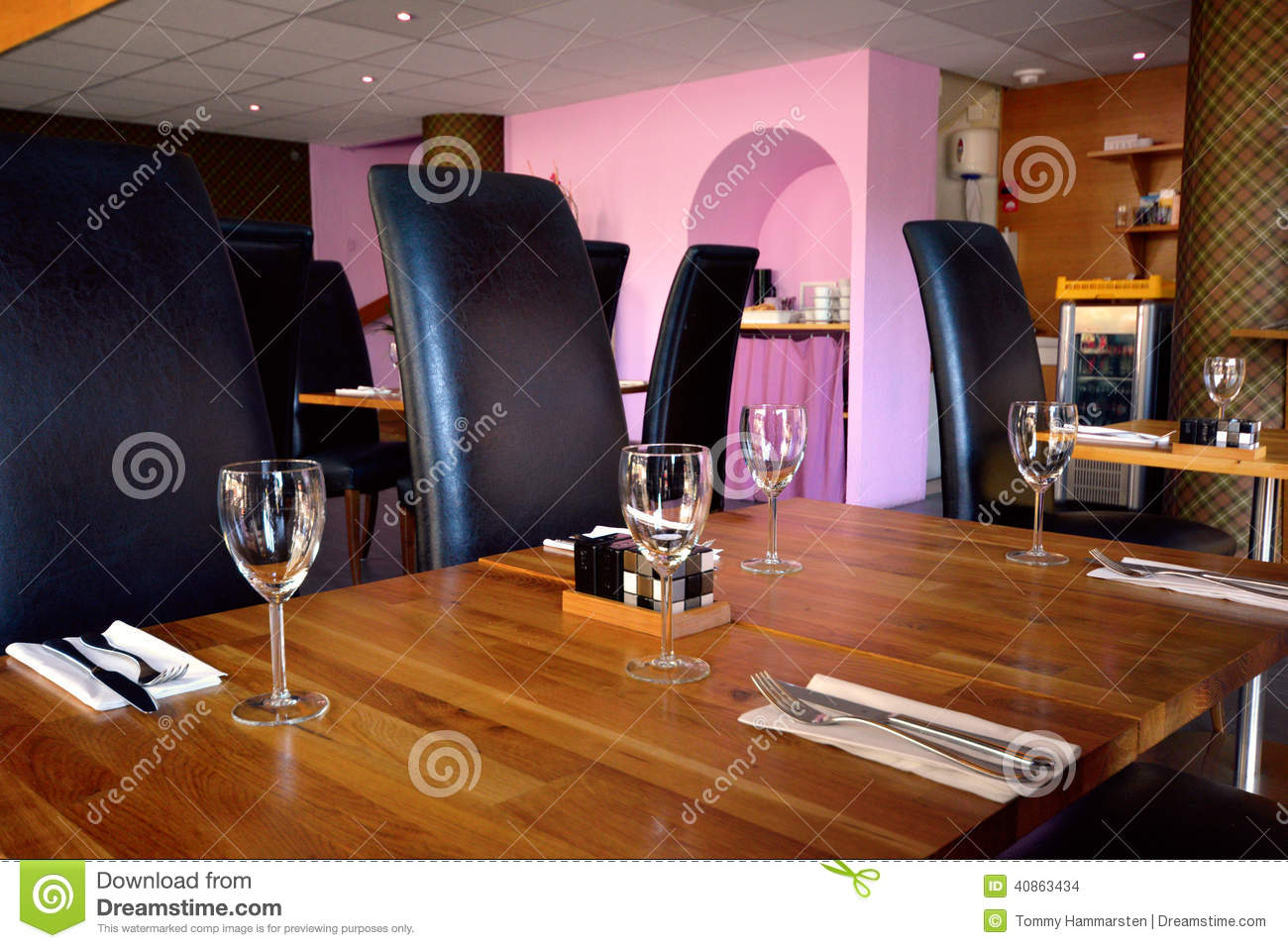 Wineglass on table