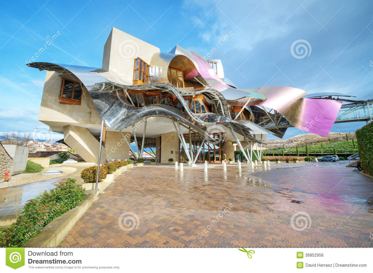 Winery Of Marques De Riscal Editorial Photo Image Of Bodega City