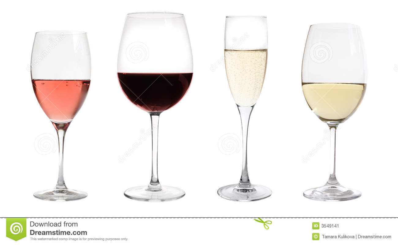 Wines collection isolated