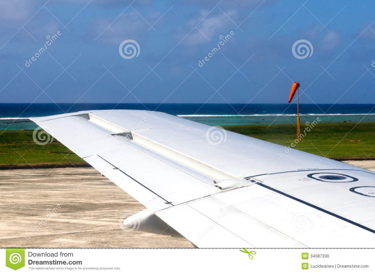 Wing Of An Airplane During Taking Off And Landing Stock ...